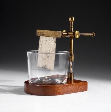 Davy's electrolysis trough, 1810.