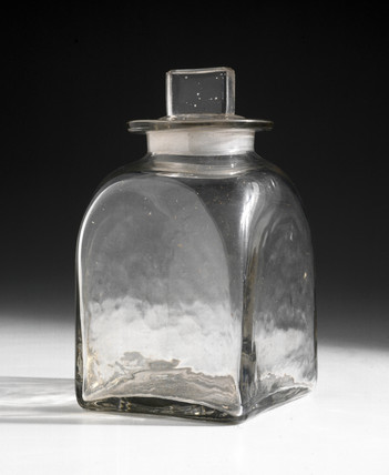 Bottle used in first preparation of viscose rayon, 1892.