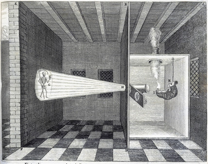 Magic lantern, 1646.