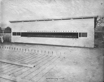 Front of Muybridge's operations room, c 1881.
