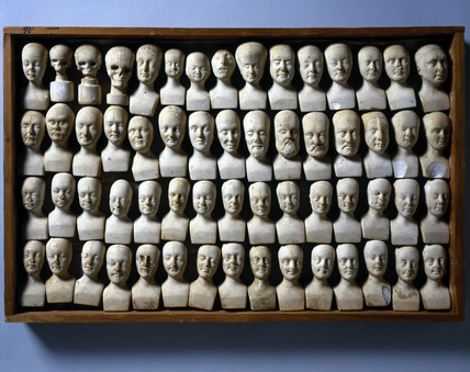 Phrenological heads, 1831.