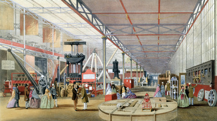 The Shand and Mason stand, Great Exhibition, Crystal Palace, London, 1851.