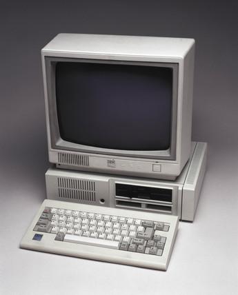 IBM Model 4860 PCjr personal computer, c 1983.