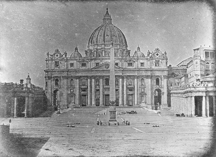 'Rome, St Peter's from the Piazza', 1840.