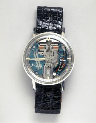 Bulova 'Accutron' wristwatch, c 1962.
