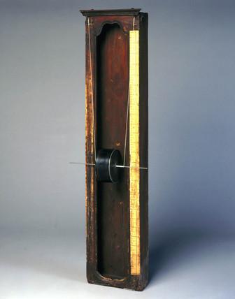 Falling-drum water clock, c 1700.
