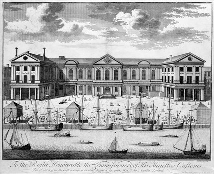 Custom House, London, 1714.