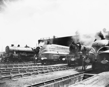 LMS Camden Motive Power Shed, 1938.