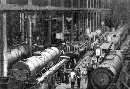 George Stephenson's Manufactory, Newcastle upon Tyne, 1864.