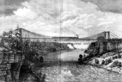 The Niagara Suspension Bridge, North America, 1862.