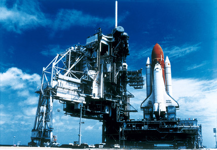'Discovery' Space Shuttle at Kennedy Space Center, Florida, USA, May 1995.