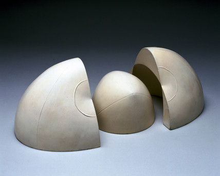 Plaster model of Fresnel Wave Surface in three parts, by Delagrave, 1876.