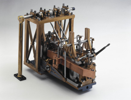 Side-lever engine, c 1845.