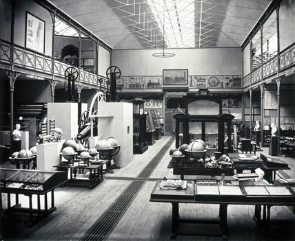 Astronomical equipment at the South Kensington Museum, London, c 1860.