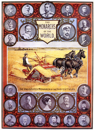 'The Undisputed Monarch of the Harvest Fields', poster, 1891-1895.