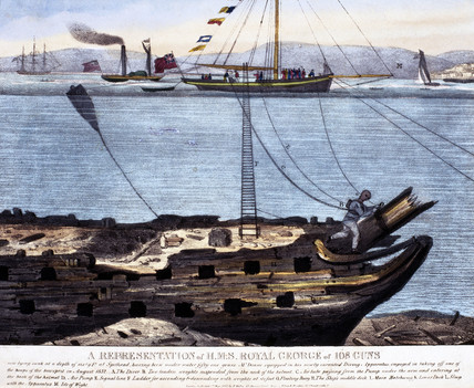 'A Representation of HMS 'Royal George' of 108 Guns', 1833.