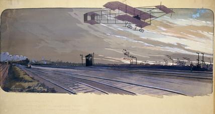 Paulhan's biplane, London-Manchester aeroplane race, April 1910.
