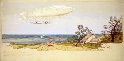'Ville de Paris' airship, early 20th century.