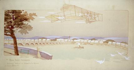 Bielovucic in Voisin biplane in Paris- Bordeaux race, 3 September 1910.