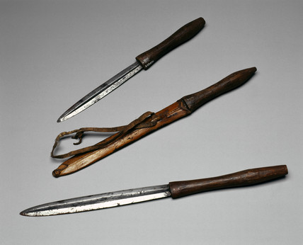 Masai surgical knives, East Africa, c 1880-1920.