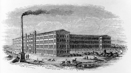 Typical Victorian mill, c 1863.