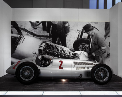 Mercedes-Benz (M-B) W154 racing car, c 1938.