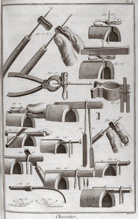 Making chains, 1751-1765.