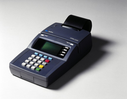 Electronic fund transfer machine, 1998.