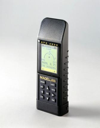 Handheld Global Positioning System receiver, 1997.