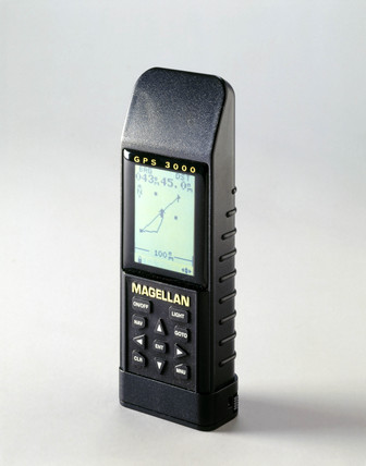 Handheld Global Positioning System receiver, 1997.