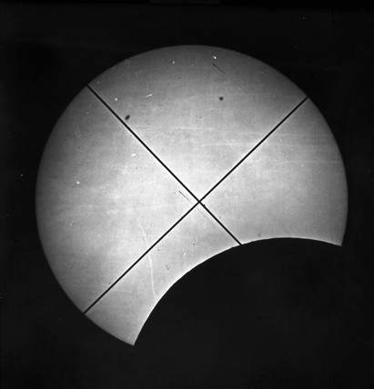Partial eclipse of the sun, 16 July 1860.