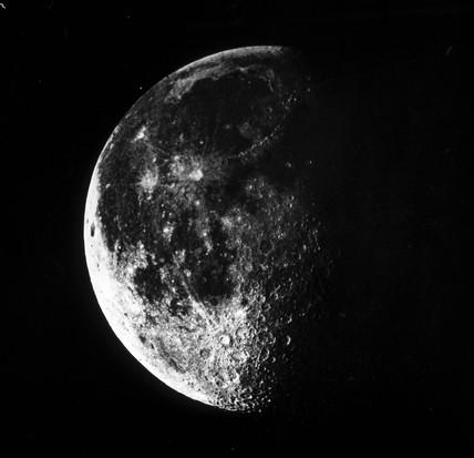 A last quarter Moon, c 1860.