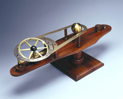 Wooden model to illustrate the causes of eclipses, 1860s.