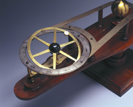 Wooden model to illustrate the causes of eclipses, 1867.