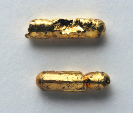 Sample of gold, c 1890.