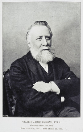 George James Symons, English meterologist, c 1890s.