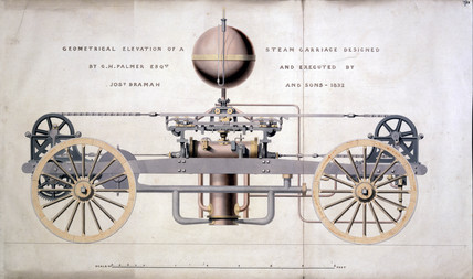 Steam carriage, 1832.