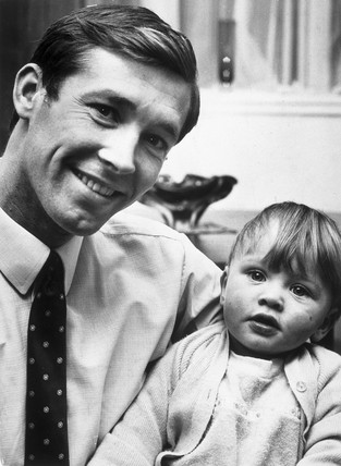 Alex Ferguson with his one year old son, Mark, November 1969.