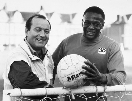 Justin Fashanu, British footballer, 27 December 1988.