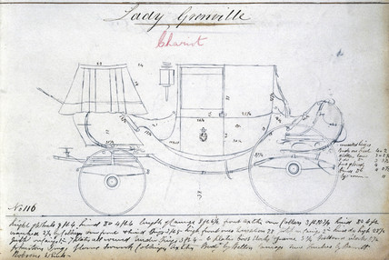 Lady Grenville's chariot, c 1810-1873.