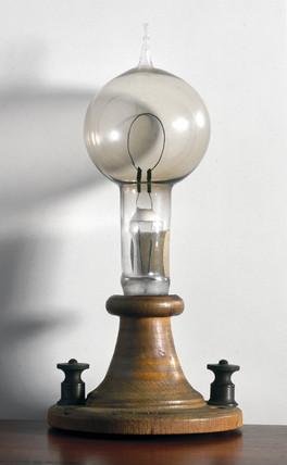 Edison's filament lamp, 1879.