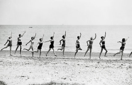 Holiday makers, Jaywick Sands, near Clacton, 18 June 1932.