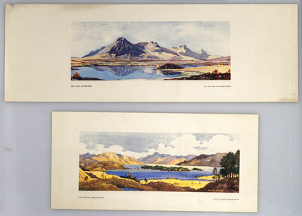 Ben Loyal and Loch Morar, BR carriage print, c 1950.