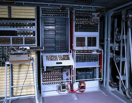 Re-creation of the 'Colosus' computer, Bletchley Park, 1997.