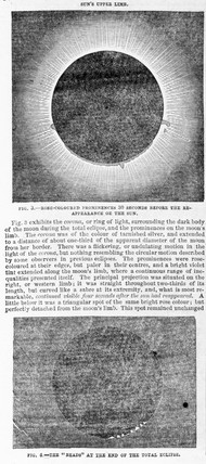 The climax of a total solar eclipse, 1851.