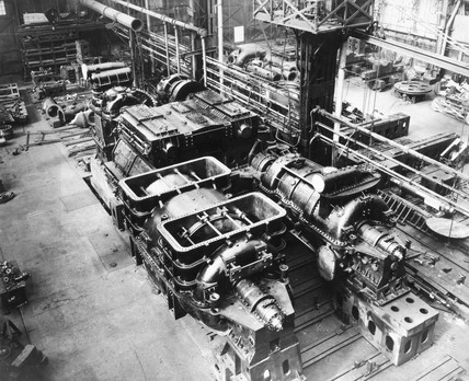 Turbine machinery, c 1930s.