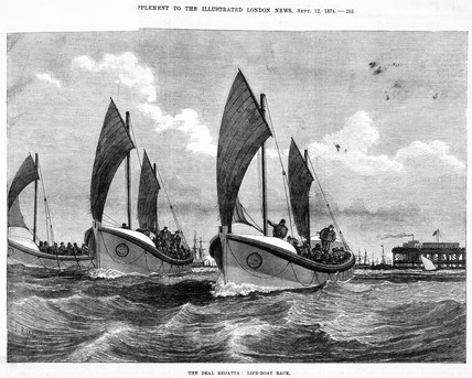 'The Deal Regatta: Life-boat Race', 1874.