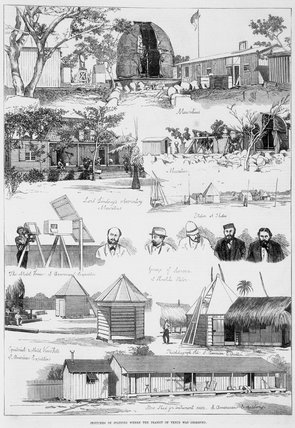 'Sketches of Stations where the Transit of Venus was Observed', 1874.