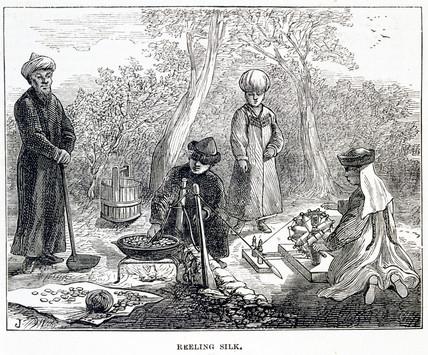 'Reeling Silk', c 1874.
