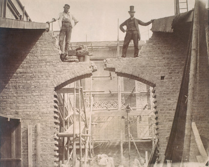 Testing Captain Henry Scott's patent cement, 1861.